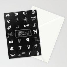 Dark Vintage Motorcycle Typography Stationery Cards