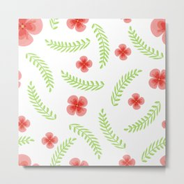 Happy floral pattern Metal Print