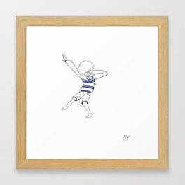 Dab or Jab Framed Art Print