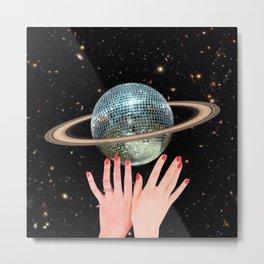 Saturn Disco Metal Print