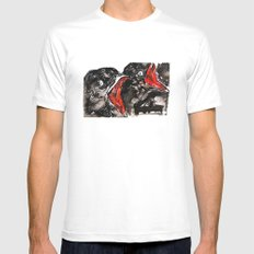 Crow Mouth Mens Fitted Tee White MEDIUM