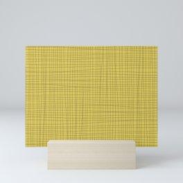 Yellow and Black Grid - Disorderly Order Mini Art Print