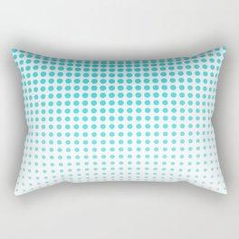 Light Blue Gradient Halftone Design Rectangular Pillow
