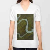 looking for alaska V-neck T-shirts featuring Alaska Streams by Andy Barron