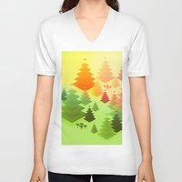 forrest V-neck T-shirts featuring Forrest sunrise by Knightley