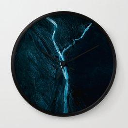 Void River – Minimalist Landscape Photography Wall Clock