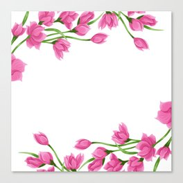 Roses crown Canvas Print