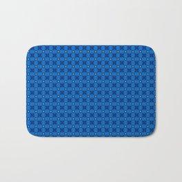Blue Abstract Stars Pattern Bath Mat