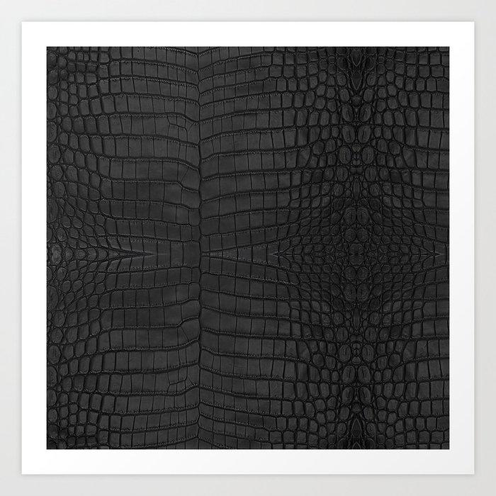 Black Crocodile Leather Print Kunstdrucke