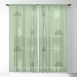 Green Phases Sheer Curtain