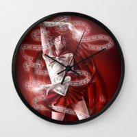 kuroshitsuji Wall Clocks featuring Sailor Senshi Grell by Falln