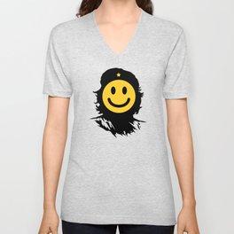 Smiley Che Unisex V-Neck