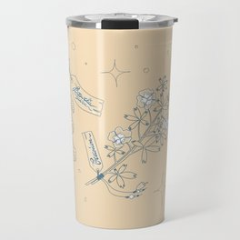 Witchy Herbs Pattern Travel Mug