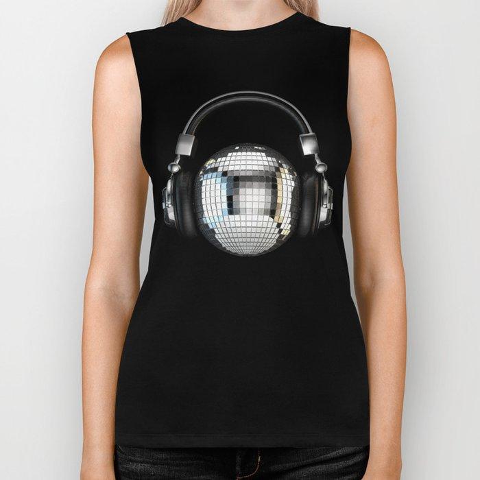 Headphone disco ball Biker Tank