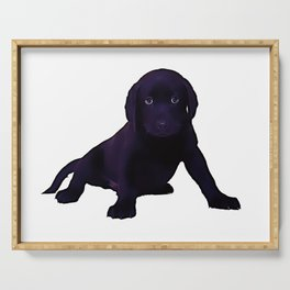Labrador Puppy - Digital Painting Serving Tray