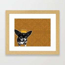 Chihuahua Queen Framed Art Print
