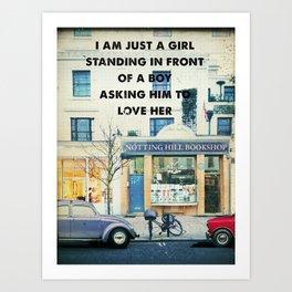 Notting Hill travel movie art Art Print