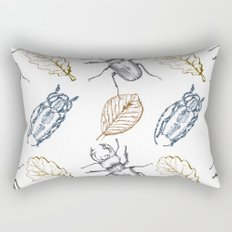 Bugs and leaves Rectangular Pillow
