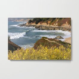 California Coast Overlook Metal Print