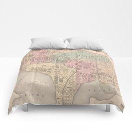 Vintage Map of Washington DC (1857) Comforters