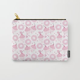 Pink Cupcakes and Donuts - White Carry-All Pouch