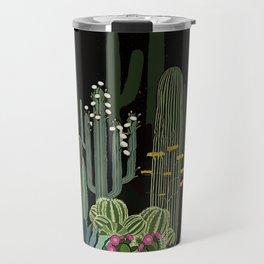 Cactus Garden at Night Travel Mug