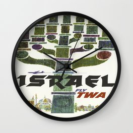 Vintage poster - Israel Wall Clock