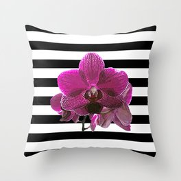 Purple Orchid Throw Pillow