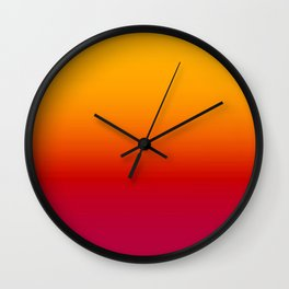 sunSET Ombre Gradient Wall Clock