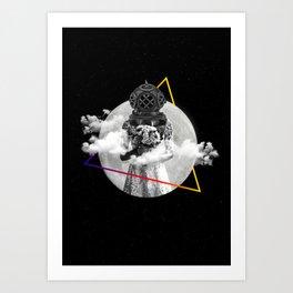 Love in a Space-Dye Vest Art Print