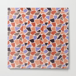 Mosaic pattern with geometrical shapes Metal Print