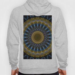 Mandala in golden and blue tones Hoody