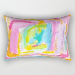 Dream on no.0 Colorful Abstract Painting Pink Modern Art Colorful Brush Art Rectangular Pillow