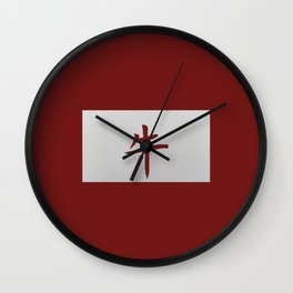 Chinese zodiac sign Ox red Wall Clock