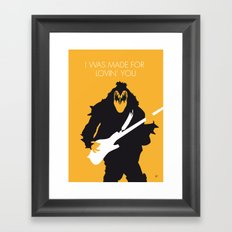 No024 MY KISS Minimal Music poster Framed Art Print