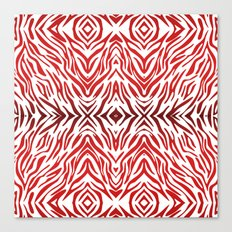 Red Zebra Pattern Canvas Print