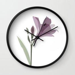 Lilium flower Wall Clock