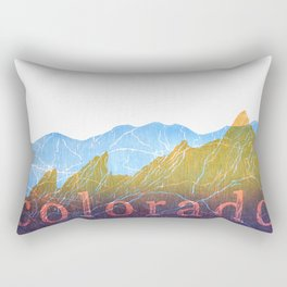 Colorado Mountain Ranges_Boulder Flat Irons + Continental Divide Rectangular Pillow