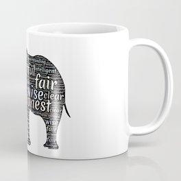 Elephant with words Coffee Mug