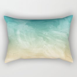 Beach Watercolor, Blue Beige Ombre, Coastal Decor Rectangular Pillow