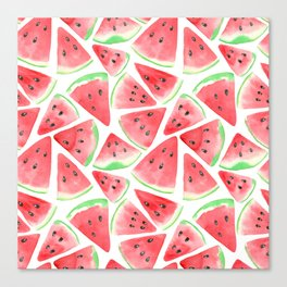 Watermelon slices pattern Canvas Print