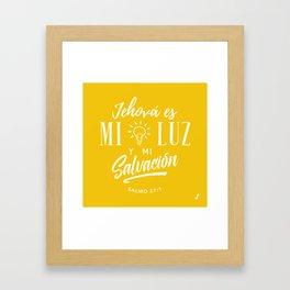 Mi luz y salvación Framed Art Print
