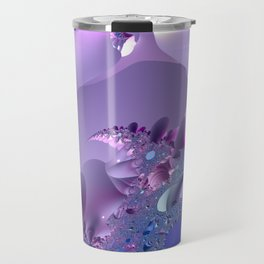 Stormy fractal waters and the lighthouse Travel Mug