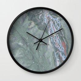 Aspen Highlands Resort Trail Map Wall Clock
