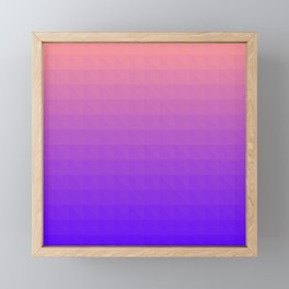 Pink and Purple Ombre - Flipped Framed Mini Art Print