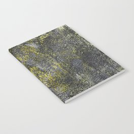 Black and White Ink on Yellow Background Notebook