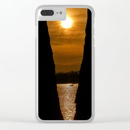 Tree Framed Sunrise Clear iPhone Case