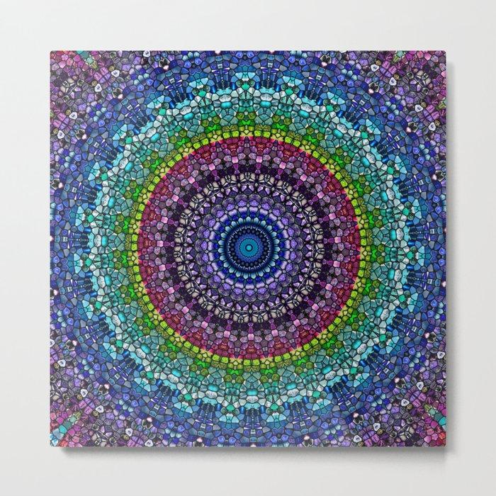 Magical Gems Kaleidoscope Metal Print