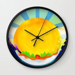 Wheel Series : Summer Solstice Medallion Wall Clock