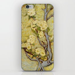 Small Pear Tree in Blossom iPhone Skin